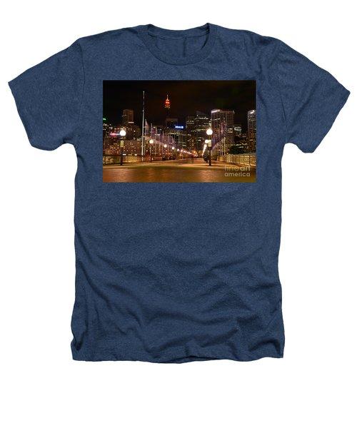 Foot Bridge By Night Heathers T-Shirt by Kaye Menner