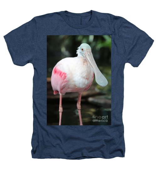 Friendly Spoonbill Heathers T-Shirt by Carol Groenen