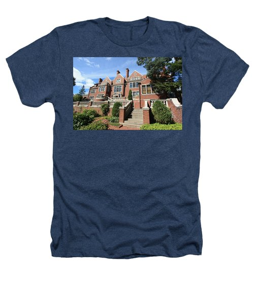 Glensheen Mansion Exterior Heathers T-Shirt by Amanda Stadther