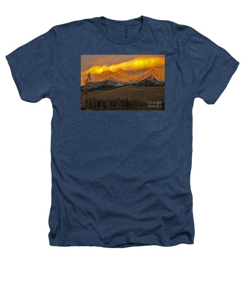 Glowing Sawtooth Mountains Heathers T-Shirt