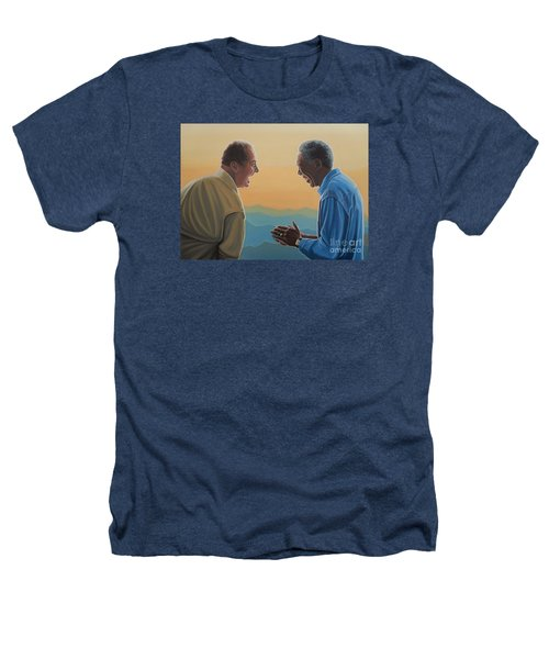 Jack Nicholson And Morgan Freeman Heathers T-Shirt by Paul Meijering