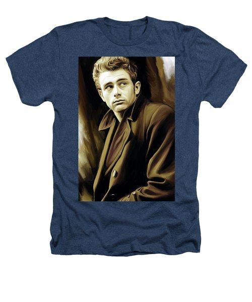 James Dean Artwork Heathers T-Shirt by Sheraz A