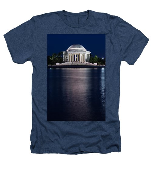 Jefferson Memorial Washington D C Heathers T-Shirt by Steve Gadomski