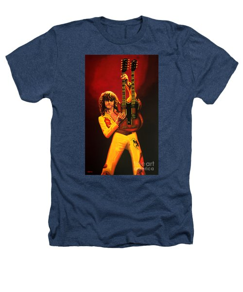 Jimmy Page Painting Heathers T-Shirt by Paul Meijering
