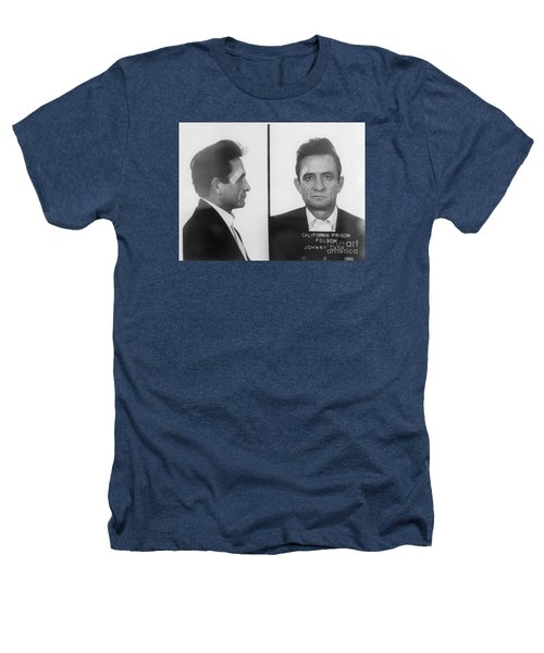 Johnny Cash Folsom Prison Heathers T-Shirt by David Millenheft