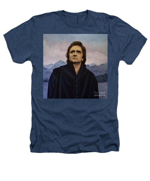 Johnny Cash Painting Heathers T-Shirt by Paul Meijering