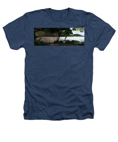 Koki Beach Hana Maui Hawaii Heathers T-Shirt by Sharon Mau