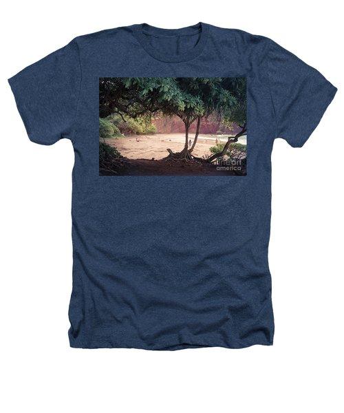 Koki Beach Kaiwiopele Haneo'o Hana Maui Hikina Hawaii Heathers T-Shirt by Sharon Mau