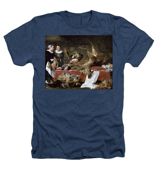 Le Cellier Oil On Canvas Heathers T-Shirt by Frans Snyders or Snijders