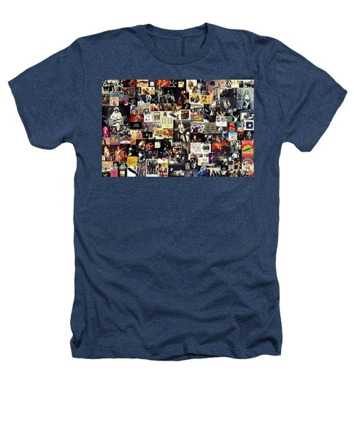 Led Zeppelin Collage Heathers T-Shirt by Taylan Apukovska