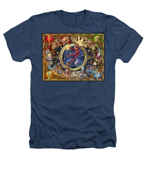 Legacy Of The Divine Tarot Heathers T-Shirt by Ciro Marchetti