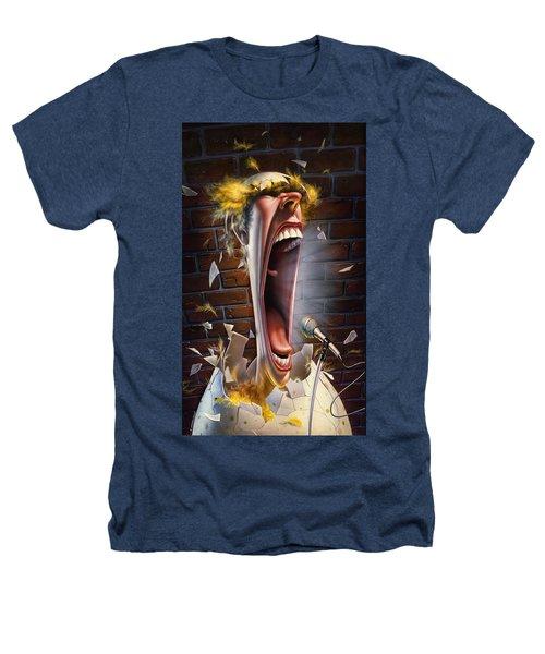 Leonard J. Waxdeck's 25th Annual Bird Calling Contest Heathers T-Shirt by Mark Fredrickson