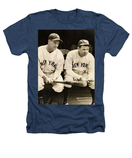 Lou Gehrig And Babe Ruth Heathers T-Shirt by Bill Cannon