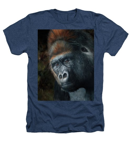 Lowland Gorilla Painting Heathers T-Shirt
