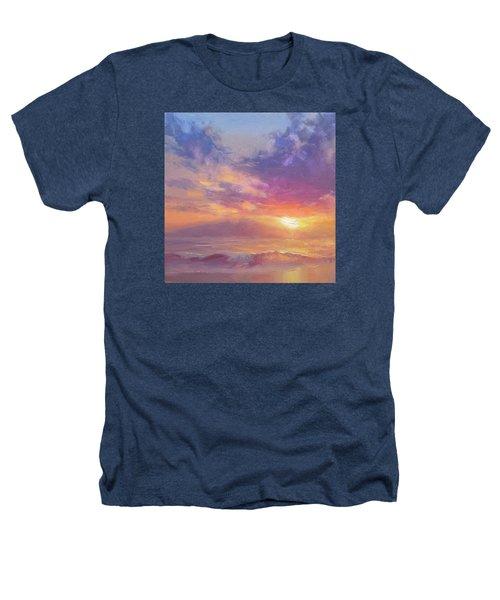 Maui To Molokai Hawaiian Sunset Beach And Ocean Impressionistic Landscape Heathers T-Shirt