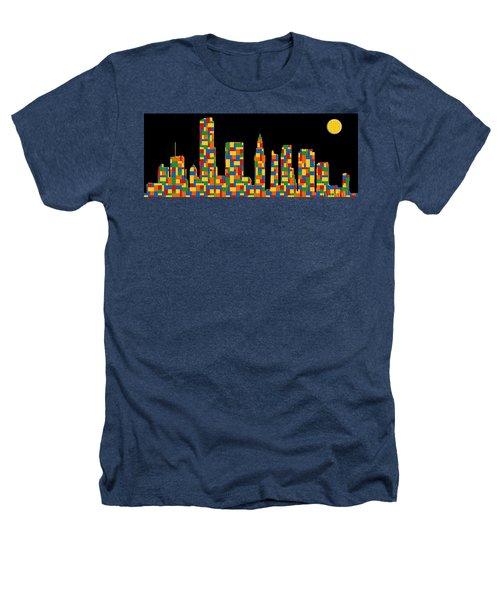 Miami Skyline 3 Heathers T-Shirt