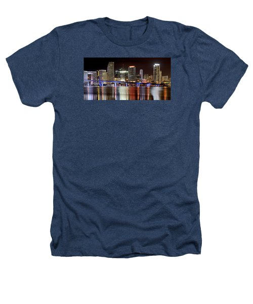 Miami Skyline Heathers T-Shirt by Brendan Reals
