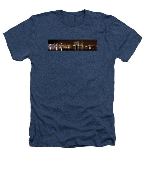 Miami - Skyline Panorama Heathers T-Shirt by Brendan Reals