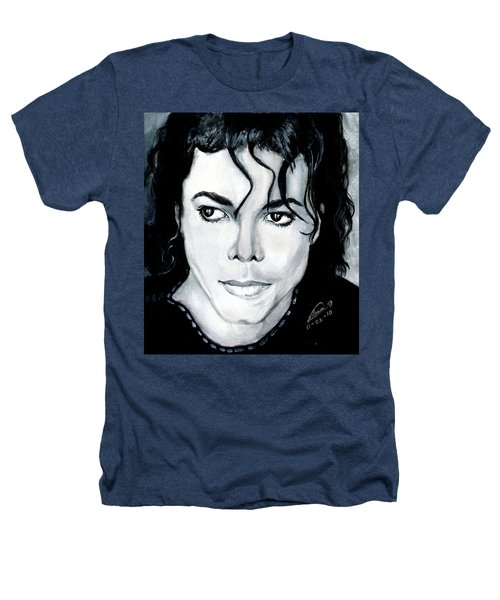 Michael Jackson Portrait Heathers T-Shirt by Alban Dizdari