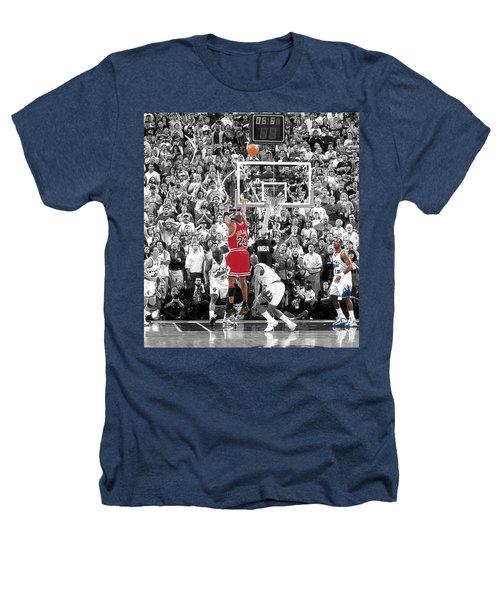 Michael Jordan Buzzer Beater Heathers T-Shirt by Brian Reaves