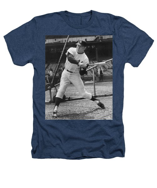 Mickey Mantle Poster Heathers T-Shirt