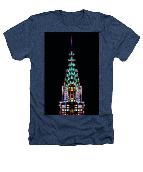 Neon Spires Heathers T-Shirt by Az Jackson