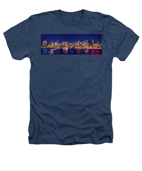 New York City Nyc Midtown Manhattan At Night Heathers T-Shirt