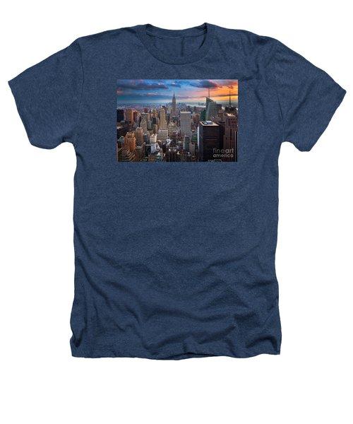 New York New York Heathers T-Shirt by Inge Johnsson
