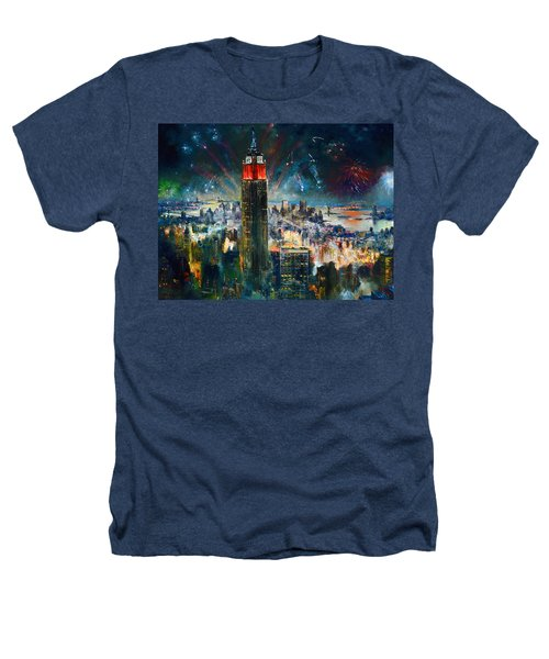 Nyc In Fourth Of July Independence Day Heathers T-Shirt by Ylli Haruni