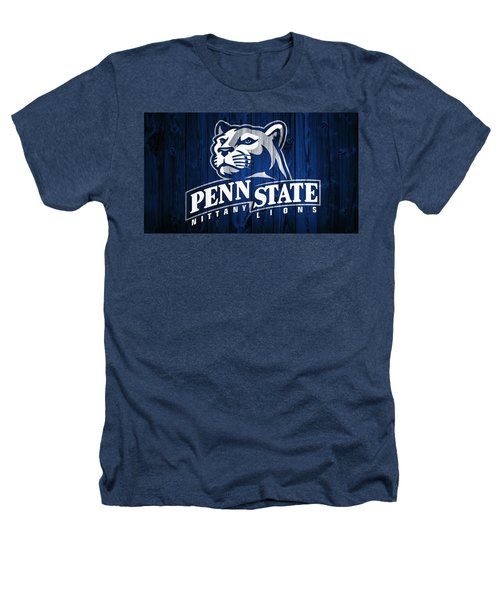 Penn State Barn Door Heathers T-Shirt by Dan Sproul