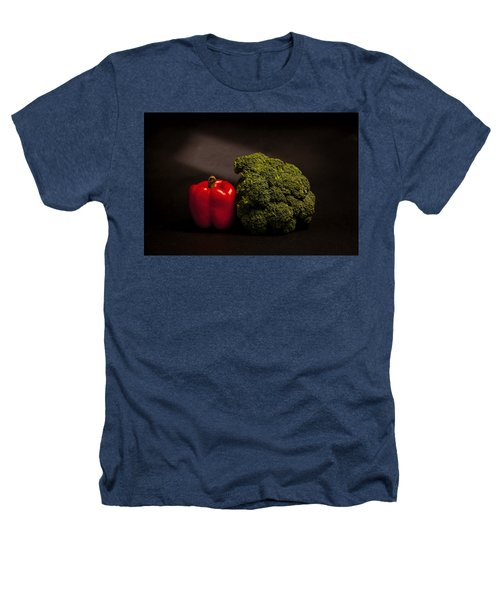 Pepper Nd Brocoli Heathers T-Shirt by Peter Tellone
