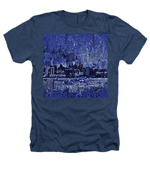 Philadelphia Skyline Abstract 2 Heathers T-Shirt