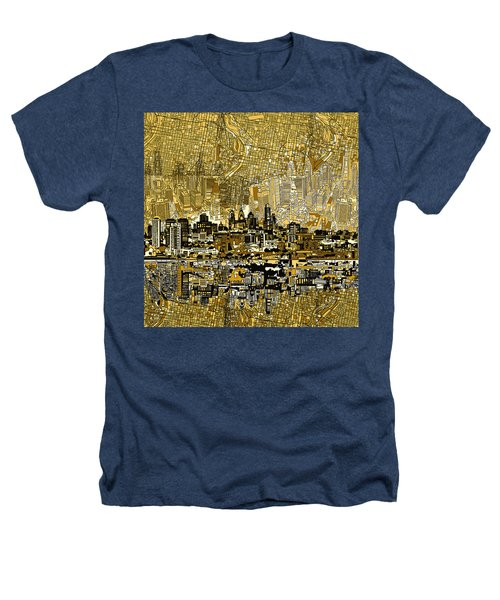 Philadelphia Skyline Abstract 3 Heathers T-Shirt