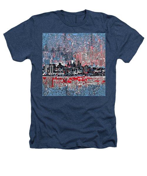 Philadelphia Skyline Abstract Heathers T-Shirt