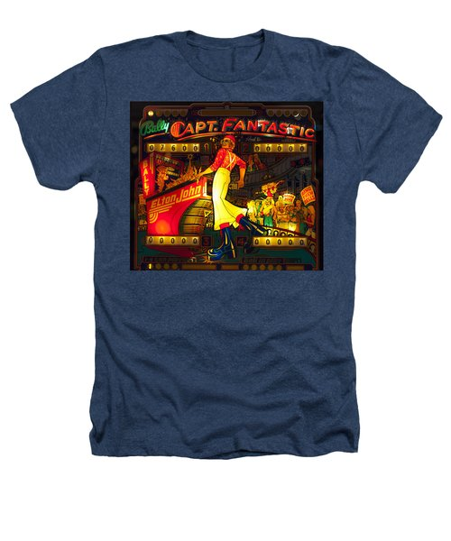 Pinball Machine Capt. Fantastic Heathers T-Shirt by Terry DeLuco