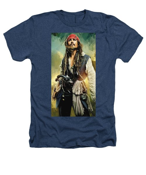 Pirates Of The Caribbean Johnny Depp Artwork 1 Heathers T-Shirt by Sheraz A