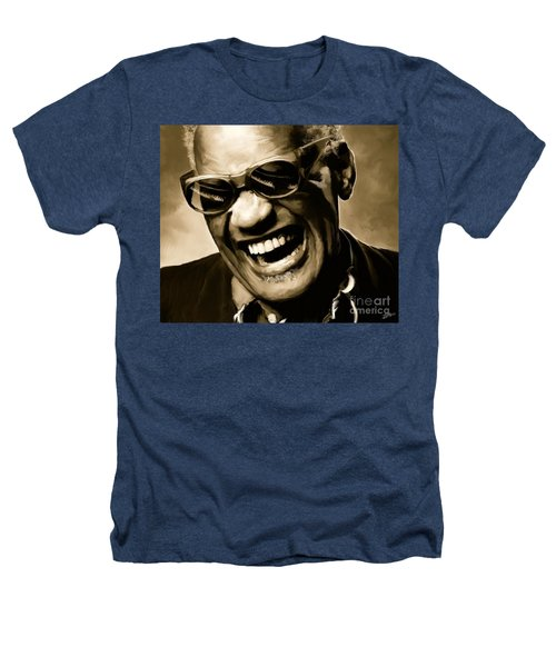 Ray Charles - Portrait Heathers T-Shirt
