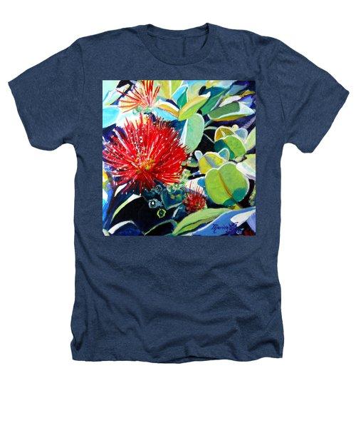 Red Ohia Lehua Flower Heathers T-Shirt