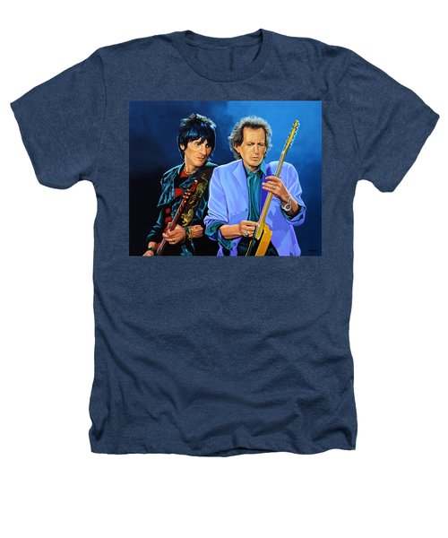 Ron Wood And Keith Richards Heathers T-Shirt