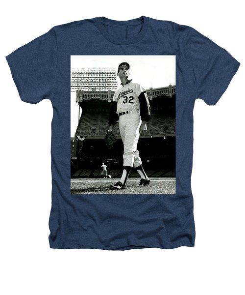 Sandy Koufax Vintage Baseball Poster Heathers T-Shirt
