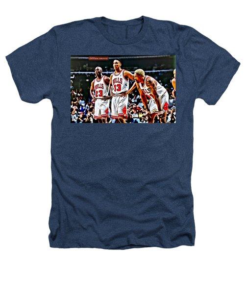 Scottie Pippen With Michael Jordan And Dennis Rodman Heathers T-Shirt