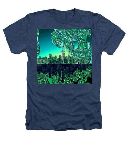 Seattle Skyline Abstract Heathers T-Shirt