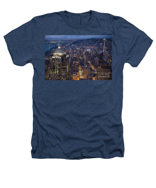 Seattle Urban Details Heathers T-Shirt by Mike Reid