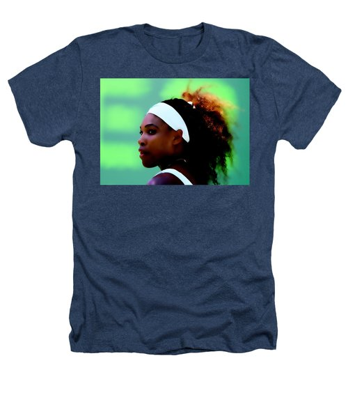 Serena Williams Match Point Heathers T-Shirt by Brian Reaves