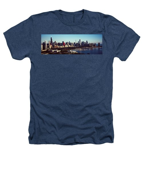 Skyscrapers At The Waterfront, Hancock Heathers T-Shirt by Panoramic Images