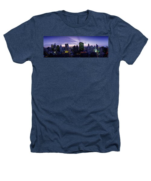 Skyscrapers, Chicago, Illinois, Usa Heathers T-Shirt by Panoramic Images