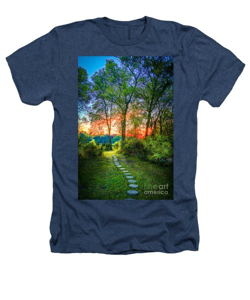 Stepping Stones To The Light Heathers T-Shirt by Marvin Spates