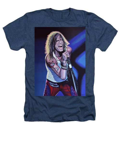 Steven Tyler 3 Heathers T-Shirt by Paul Meijering