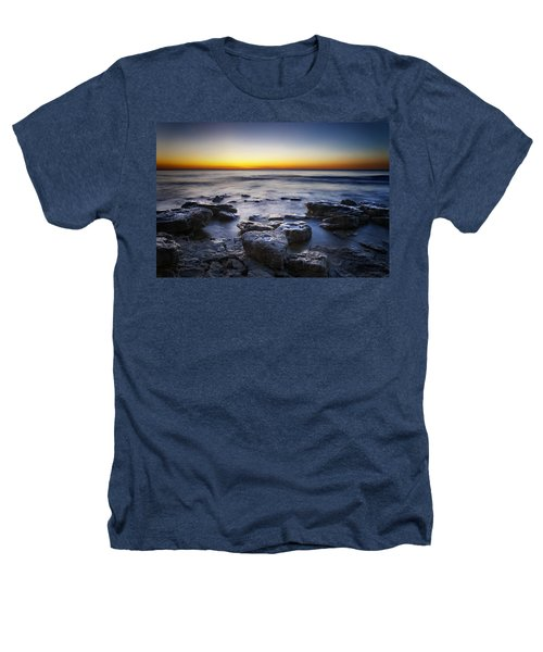 Sunrise At Cave Point Heathers T-Shirt by Scott Norris