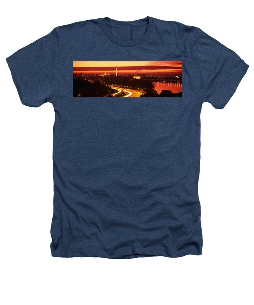 Sunset, Aerial, Washington Dc, District Heathers T-Shirt